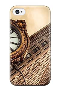 Fashion FaGekGx1228EXDZz Case For Iphone 6 Plus (5.5 Inch) Cover(flatiron Building New York City Architecture Clocks Cities Angle Nature Other)