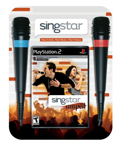 SingStar Amped Bundle (Includes 2 Microphones) - PlayStation 2 (Singstar Ps2 Mic)