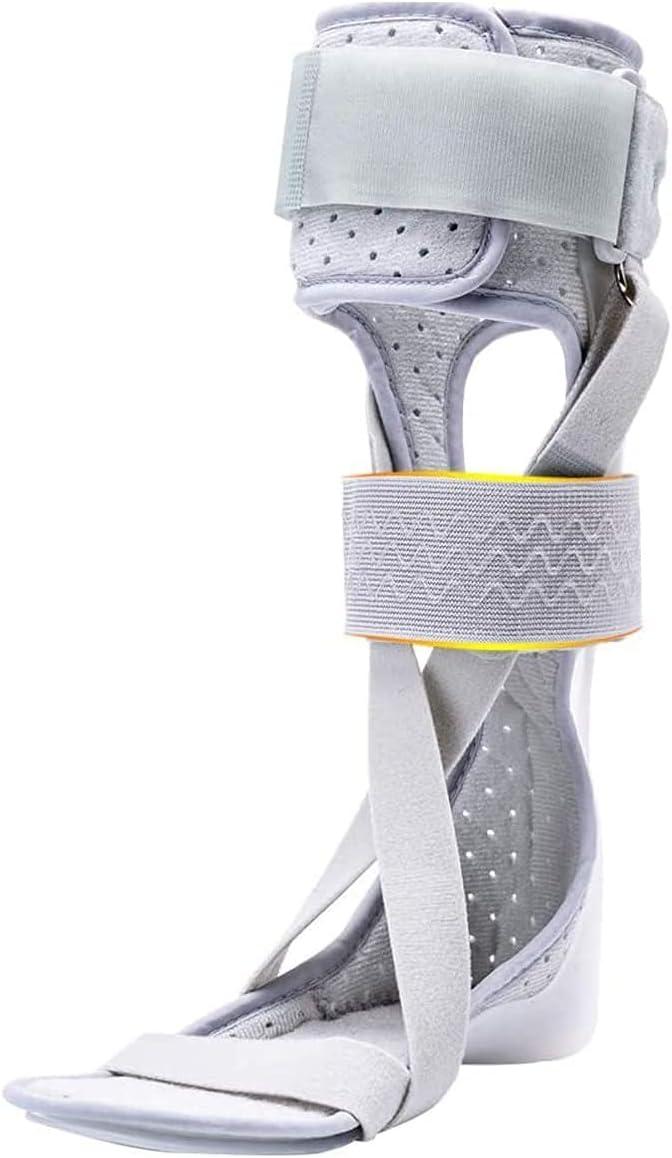 Wxnnx Soporte de ortesis de Tobillo y pie Férula de Resorte de Hoja AFO, Soporte de pie Acolchado y Soporte de pie de Tobillo,Right,S