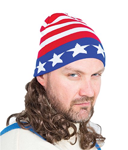 [The Iceman Mullet Wig Ski Hat] (Costumes Usa)