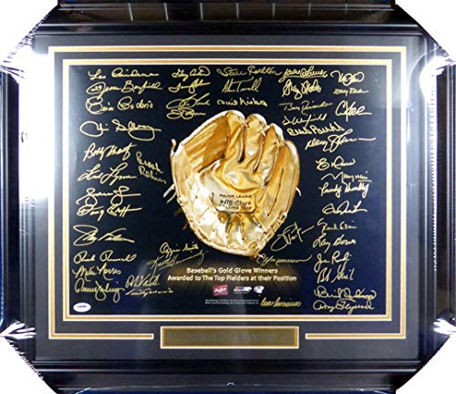 rs Autographed Framed 16x20 Photo With 45 Signatures Including Brooks Robinson, Ozzie Smith & Gary Carter Stock #130301 - PSA/DNA Certified ()