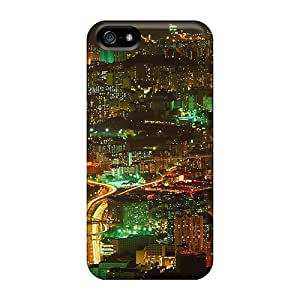 Hot XET34477Qzsg Hong Kong In Lights Cases Covers Compatible With Iphone 5/5s