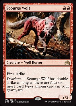 Magic: the Gathering - Scourge Wolf (179/297) - Shadows Over Innistrad