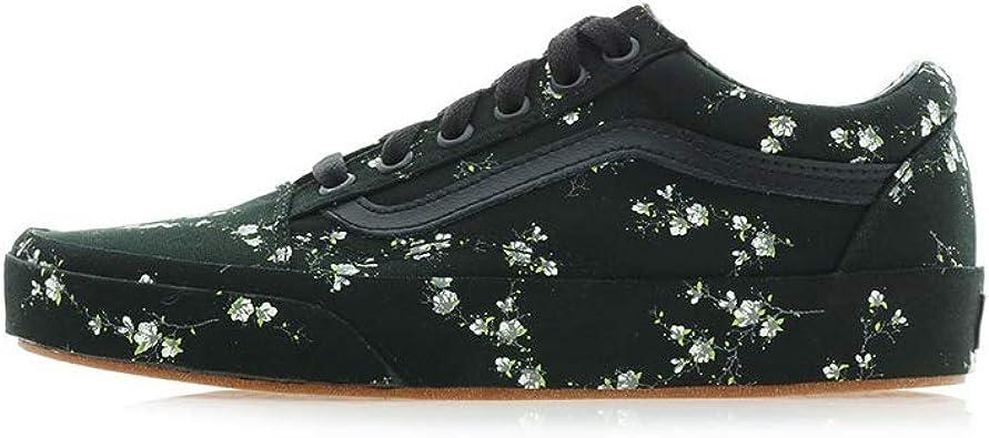 Amazon.com | Vans Old Skool (Midnight Floral) Black Womens ...