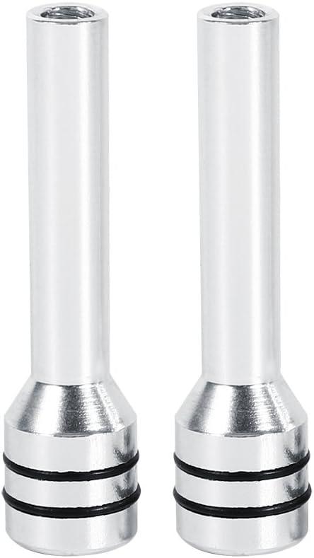 Cerradura Tirador Tiradores Aluminio De Puerta Interior Universal Para Coche SUV Camión Automóvil (Juego De 2) VGEBY ( Color : Plata )