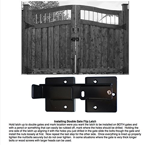 Heavy Duty Double Gate Sentry Flip Latch Dumpster Gate