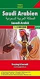 Saudi Arabia (Inlcuding Iran, Iraq, Kuwait, Jordan, Bahrain, UAE, Oman, Yemen, Quatar) Road Map (Freytag & Berndt Road Map)
