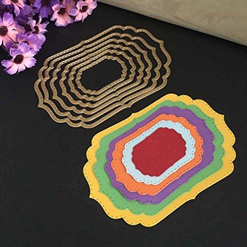 Metal Cutting Dies Stencils,Lavany Metal Cutting Dies Stencil Dies Cut Scrapbooking Photo Paper Cards Crafts Embossing DIY, DIY Hand Embossing (D)
