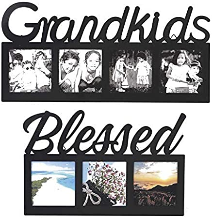 Grandkids make life grand 16W x 8H Floating Frame,Wall Decor,Frame Decor,Custom Floating Frames,Custom Glass Decor