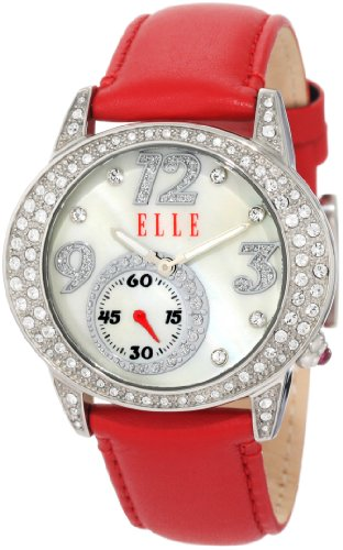 ELLETIME Women's EL20048S01N Red Leather (Elle Womens Leather Watch)