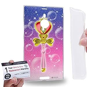 Case88 [Nokia Lumia 1520] Gel TPU Carcasa/Funda & Tarjeta de garantía - Sailor (Series Moon) Heart Wand Art1441