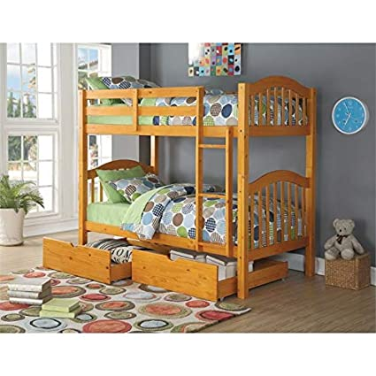 Excellent Amazon Com Acme Heartland Twin Over Twin Bunk Bed In Honey Pdpeps Interior Chair Design Pdpepsorg
