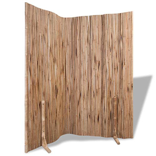 """Tidyard 70.9""""x70.9"""" Freestanding Room Divider Fence Panel Indoor Outdoor Flexible Formed Bamboo Divider/Screen, Folding Privacy Screen Room Divider,Wall Divider,Room Partitions/Separator/Dividers from Tidyard"""