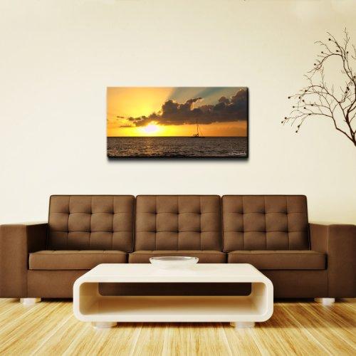 Ready2HangArt Chris Doherty Maui Sunset Oversized Canvas Wall Art