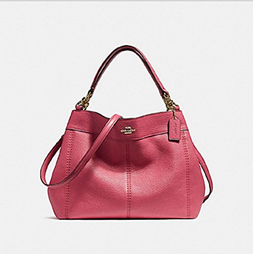 Coach Pebbled Leather Small Lexy Shoulder Bag Handbag (Rouge)