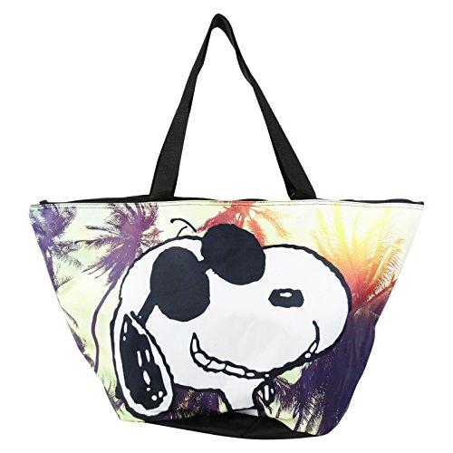 Peanuts Snoopy Palm Set Borsa da Mare a Secchiello Fondo Tondo a Mano Shopping Pic Nic