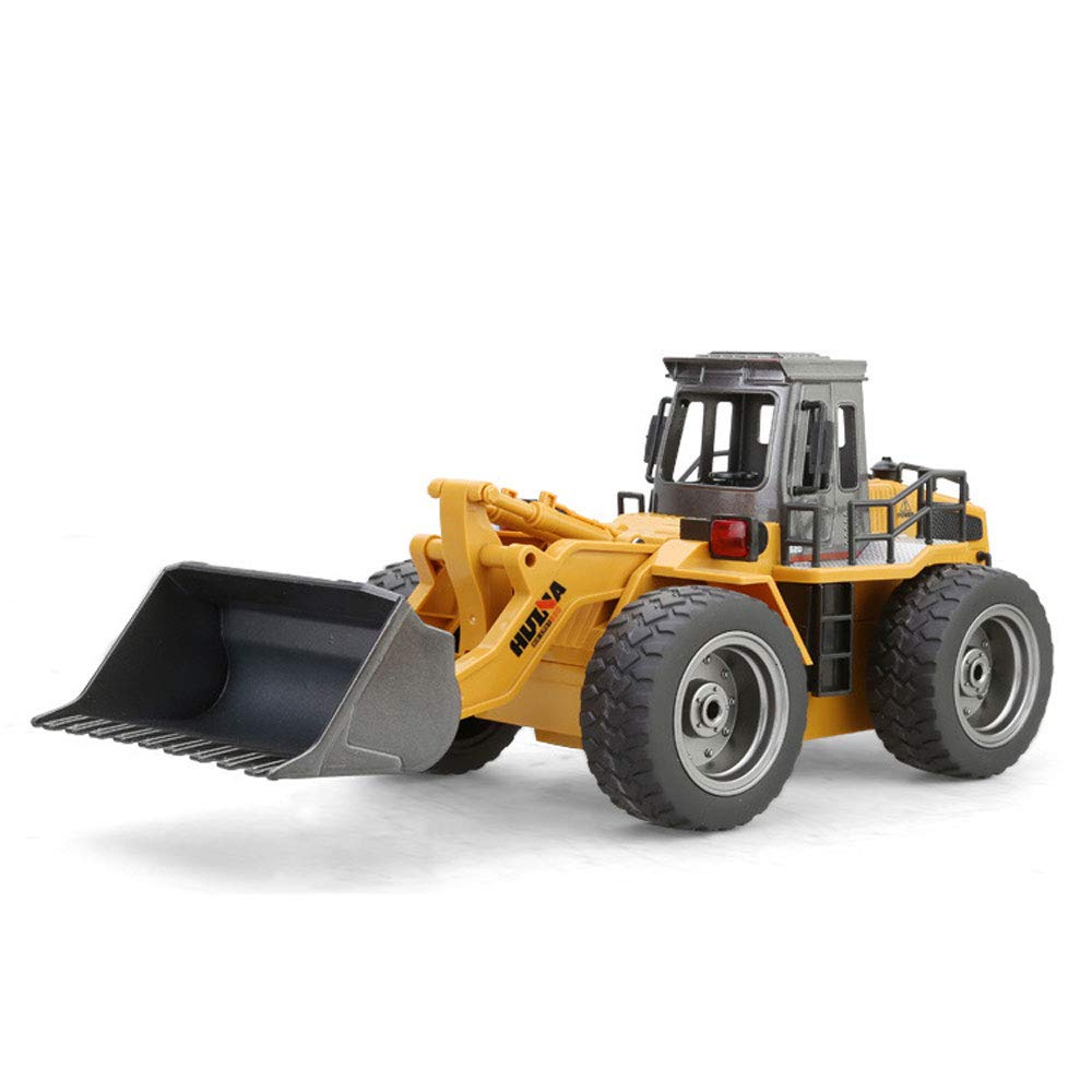2 batteries Mogicry Wireless Remote Control Car Bulldozer Alloy Profession Material Engineering Car Toy Charging Electric RC Car Excavator Forklift Light Excavator Boy Gift For Kids 3+ (Size   2 batteries)