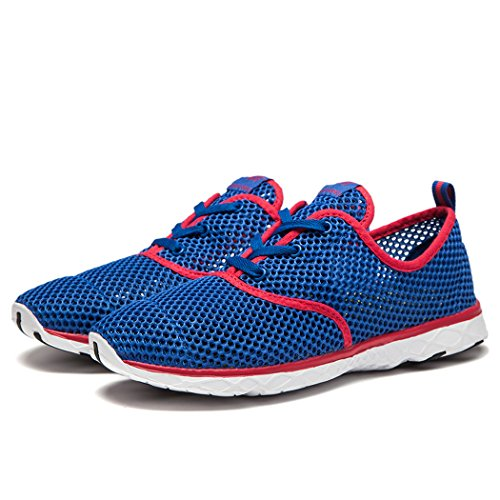 NewDenBer Womens Mesh Quick Drying Aqua Water Shoe Blue RVeD9qbmt