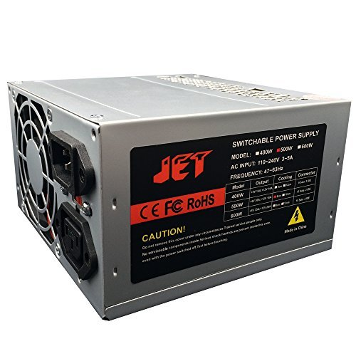 500W Duplicator Power Supply for 1 to 11 Target CD DVD Bluray Duplicator Tower with 13 Sata plus 2 Ide Connectors 8 CM big Cooling 115v/230v Input Switch