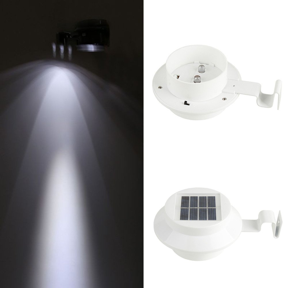 Solar Lights Outdoor, Wireless Sensor Solar Lights with Wide Lighting Area, Easy Install Waterproof Security Lights for Front Door, Back Yard, Driveway-White