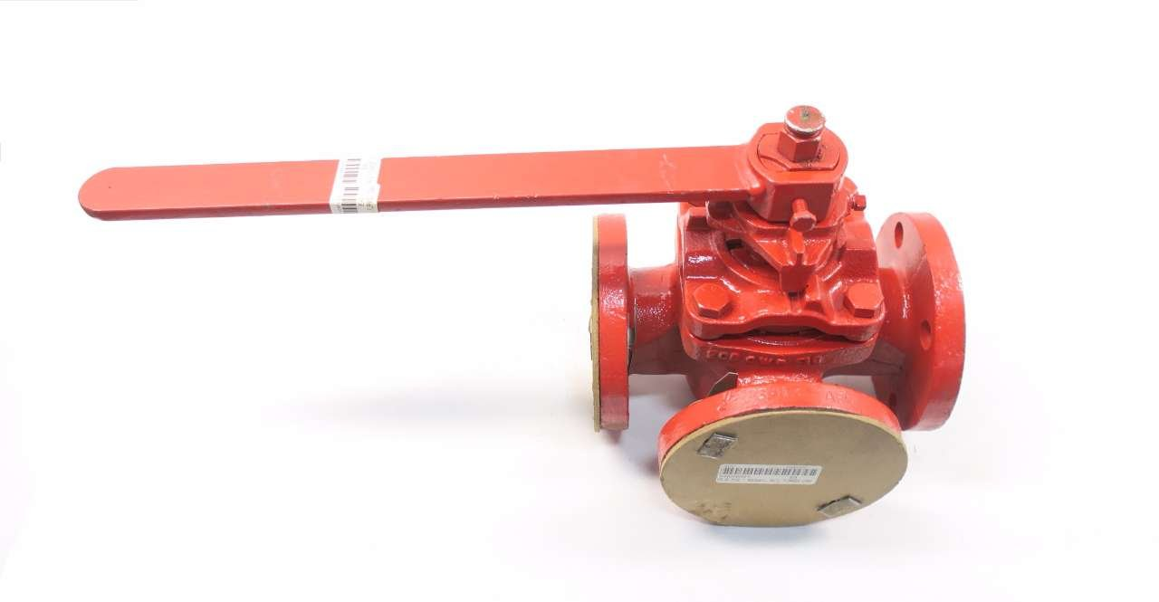 NORDSTROM 3413 3-Way Iron FLANGED Plug Valve 2IN D563688