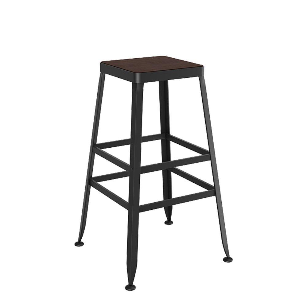 A 404065cm Bar Stool   Solid Wood European Style Iron Bar Stool   Bar Stool Modern Simple Chair   High Stool   Bar Stool ( color   B , Size   404045cm )
