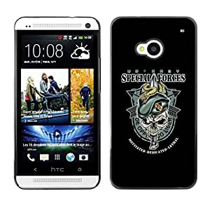 LECELL -- Funda protectora / Cubierta / Piel For HTC One M7 -- US Army Special Forces --
