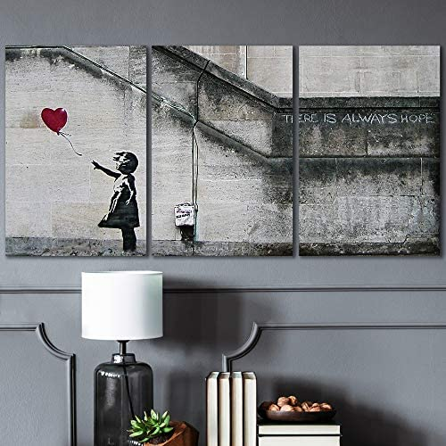 Time 4 Picture Banksy There is always Love Love 6 pictures canvas Giclee nature art