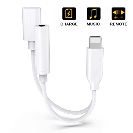 sports shoes 9a6c7 6f5de Headphone Adapter for Lightening Cable for iPhone 8 Adapter to 3.5mm  Converter Earphone for iPhone Xs/XS max 8/8 Plus 7/7 Plus Accessories  Splitter ...