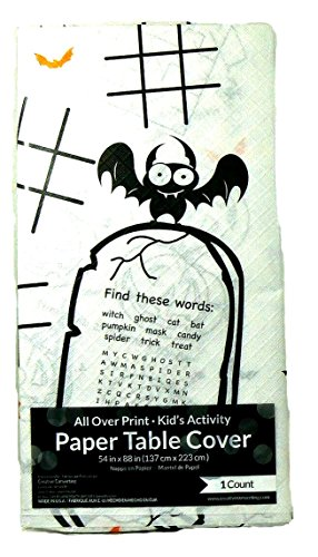 Children's Halloween Activity Paper Table Cover/Tablecloth -