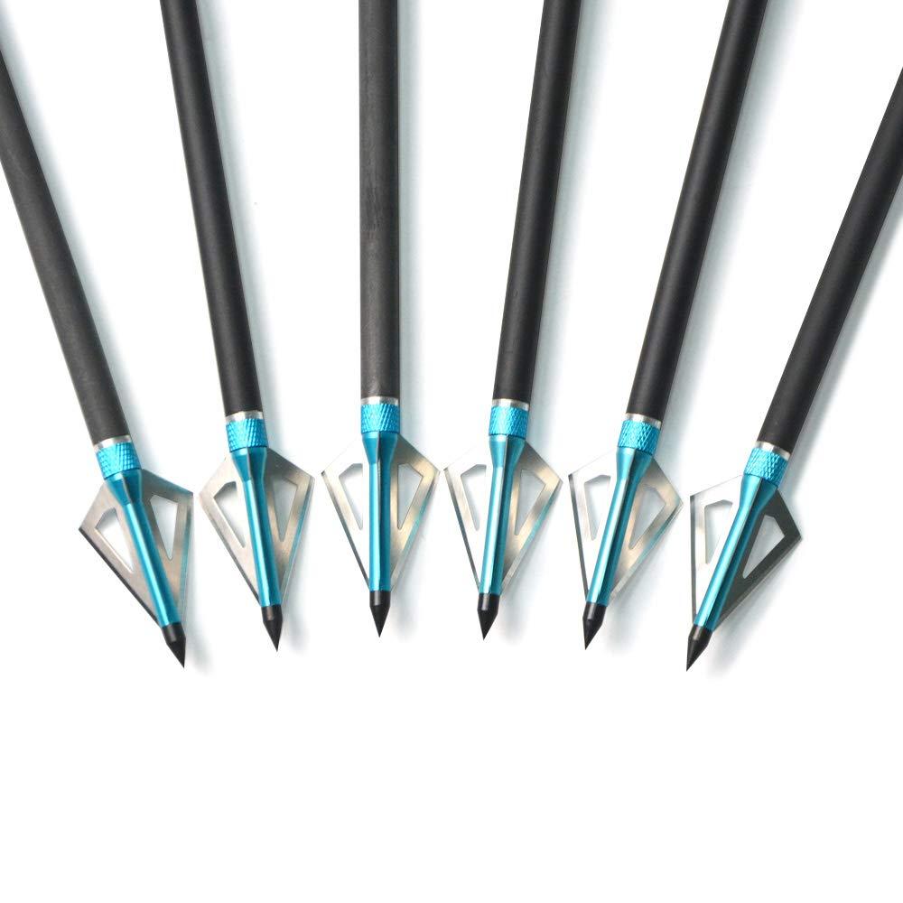 ZSHJG 12pcs Armbrustpfeile 20Zoll 22Zoll Armbrustbolzen Carbonbolzen f/ür Armbrust mit Austauschbarem Broadhead