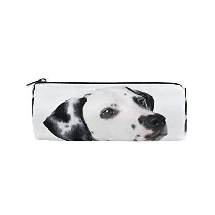 e66542a9b1429 Amazon.com   Pencil Case Dalmatian Fun Animals School Pen Pouch Office  Zippered Pencil Cases Holder Women Makeup Bag   Office Products