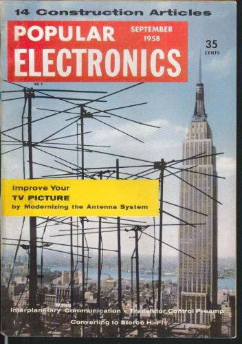 POPULAR ELECTRONICS Interpanetary Communication Transistor Control Preamp 9 1958 (Amp Transistor)