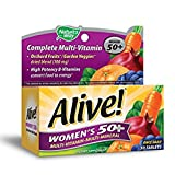 Natures Way Alive Womens 50 Plus Multivitamin and Mineral Tablets, 50 Count