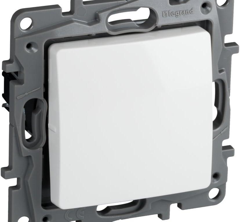 Legrand, 396501 Niloé - Interruptor conmutador para empotrar, interruptor para interior, color blanco: Amazon.es: Bricolaje y herramientas