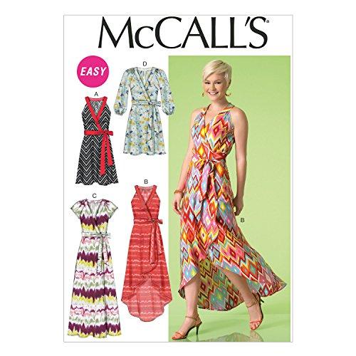 Butterick  Patterns M7119 Misses' Dresses, Size A5 (6-8-10-12-14) (Dress Wrap Sew)