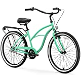 sixthreezero Around The Block Women's 3-Speed Cruiser Bicycle, Mint Green w/Black Seat/Grips For Sale