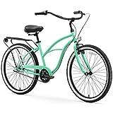 sixthreezero Around The Block Women's 3-Speed Cruiser Bicycle, Mint Green w/ Black Seat/Grips For Sale