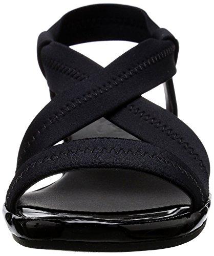 Life Stride Debutante Femmes US 7.5 Noir Large Sandales Compensés