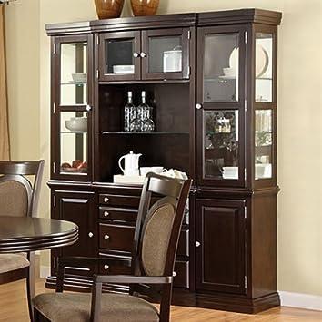 Furniture of America FA-CM3418HB Hutch Buffet Walnut