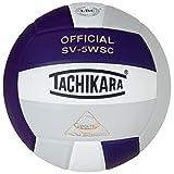 Tachikara Sensi-Tec Composite High Performance Volleyball (Purple/White/Silver Gray)