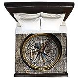CafePress - Compass Rustic - King Duvet Cover, Printed Comforter Cover, Unique Bedding, Microfiber