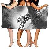 KTMB Leopard Cat Predator Animal Fast Washable Extra Large Bath Beach Towel Soft Personality Towel