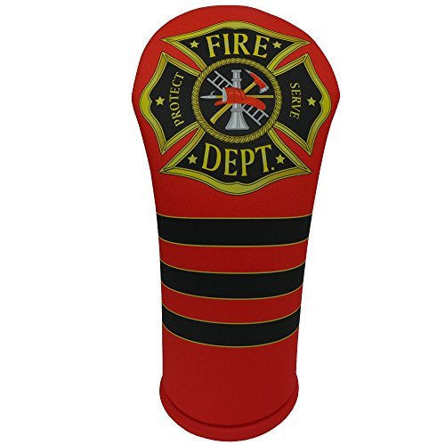 Fire Departmentテーマゴルフアクセサリーコレクション B01MRQO6GB Mallet Putter Cover