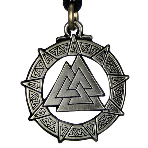 Amazon pewter valknut warriors knot pendant valkyrie viking pewter valknut warriors knot pendant valkyrie viking necklace aloadofball Images