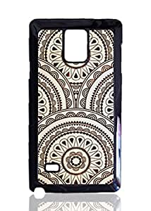 Brown Retro Pattern Custom Hard Plastic back Phones Case for Samsung Galaxy Note4 - Galaxy Note 4 Case Cover