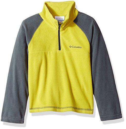 Boys Fleece Shirt (Columbia Little Boys' Toddler Glacial Half Zip Fleece Jacket, Ginkgo/Graphite, 4T)