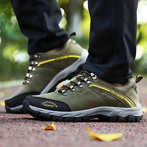 Walking Hiking Sneakers 1 Shoes LILY999 Sports Trekking Anti Skid Camping Outdoor Women's ArmyGreen and Men's Breathable Tww7Fqxp1