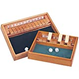 Deluxe Shut The Box with 12 Numbers & Dice