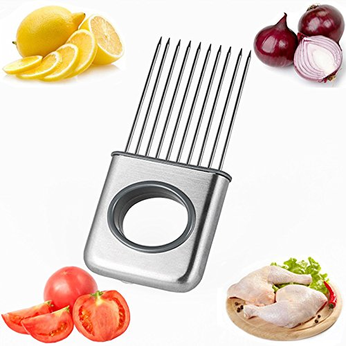 Dream source of stainless steel fork vegetables potatoes onion slicer steak pork chop meat knife and fork needle parts cutting auxiliary tool cutting hand kitchen gadget